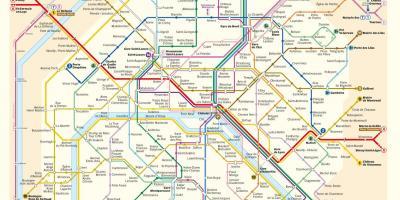 Pariz Mapa Mapy Pariz Ile De France Francie